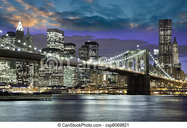 Architecture and Lights of New York City - csp8069821
