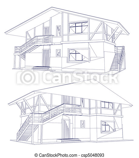 Architecture blueprint of a two house vector architecture architecture blueprint of a two house vector malvernweather Image collections