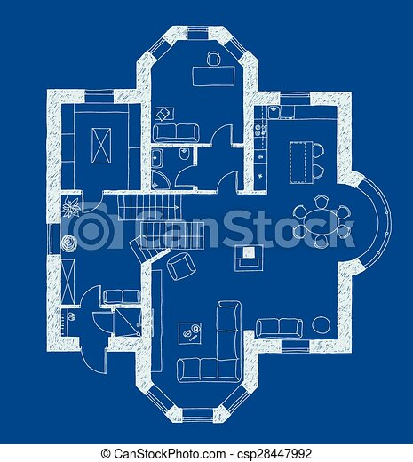 Architecture blueprint plan architectural drawing eps vectors architecture blueprint plan csp28447992 malvernweather Image collections