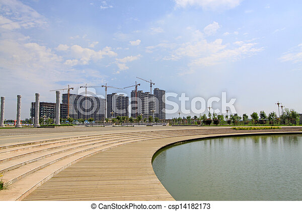 Architecture construction site under the sky - csp14182173