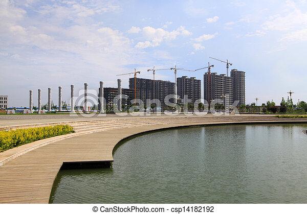 Architecture construction site under the sky - csp14182192