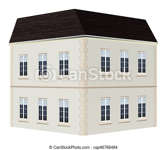 Architecture Design For Two Storey House Illustration