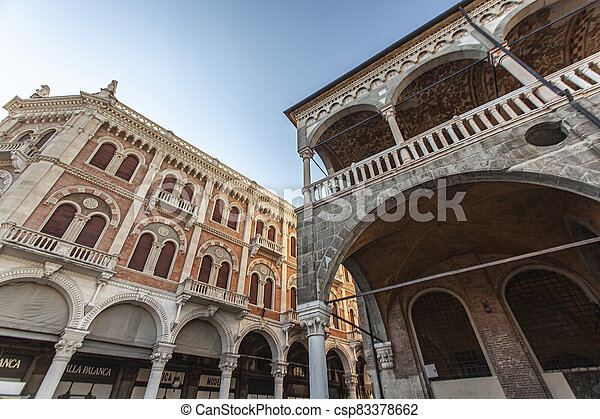 Architecture details from old historical building in Padova in Piazza dei Signori 2 - csp83378662
