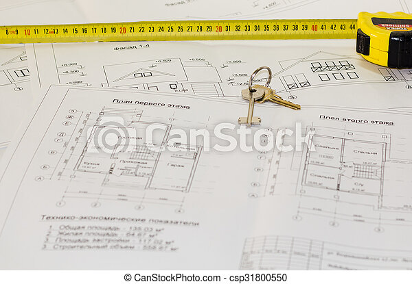 Architecture drawings and plans of the house - csp31800550