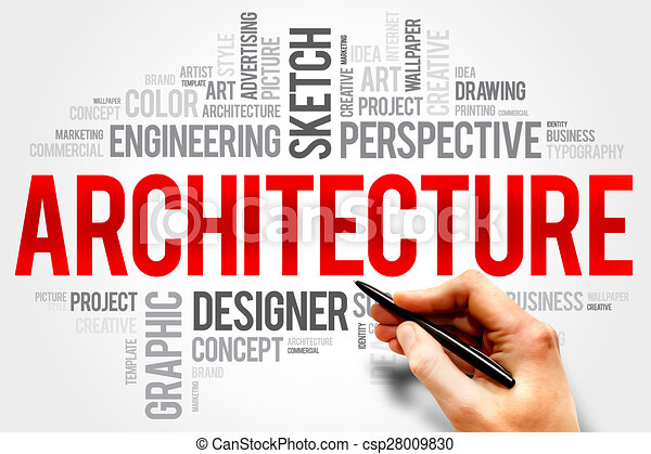 Architecture Word Cloud Concept Drawings