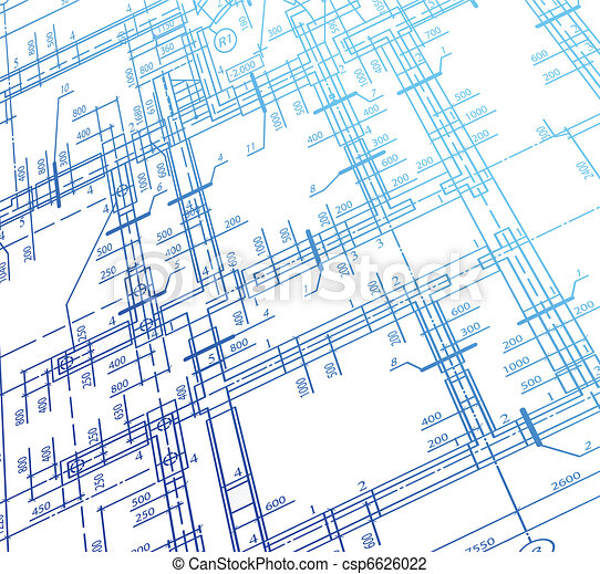 Architecture house plan background. Vector - csp6626022