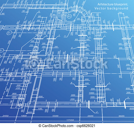 High Quality Architecture House Plan Background. Vector