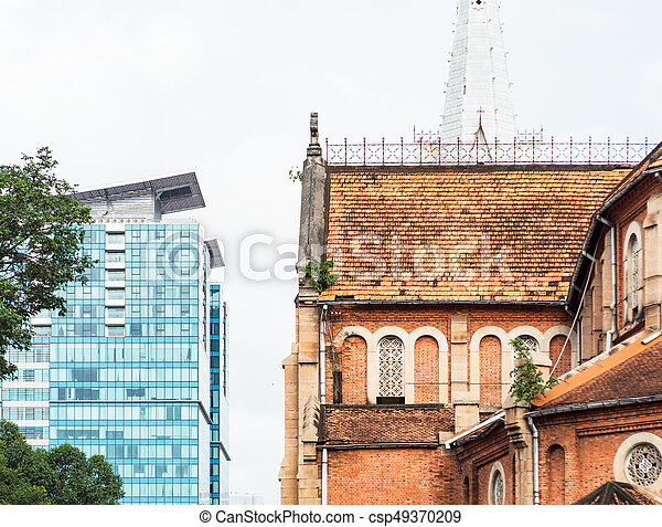 Architecture in Ho Chi Minh City - csp49370209