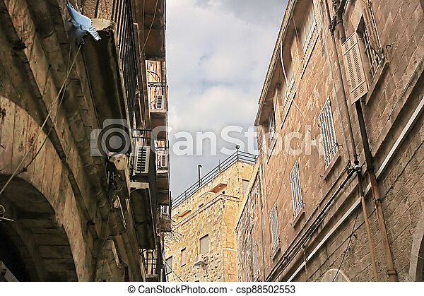 Architecture in The Old City of Jerusalem, Israel - csp88502553