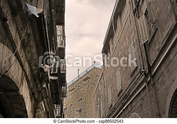 Architecture in The Old City of Jerusalem, Israel - csp88502543