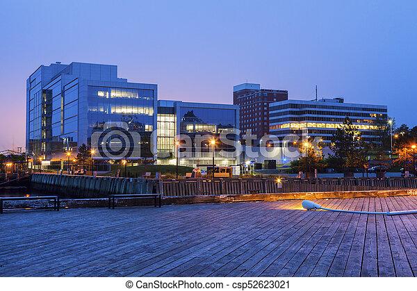 Architecture of Halifax at sunrise - csp52623021