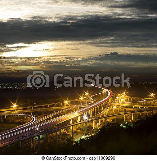 Architecture of highway constructio - csp11009296