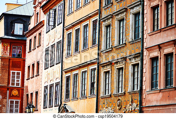Architecture of Old Town in Warsaw, Poland - csp19504179