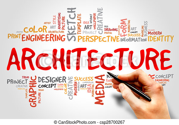Architecture Word Cloud Concept Stock Illustration