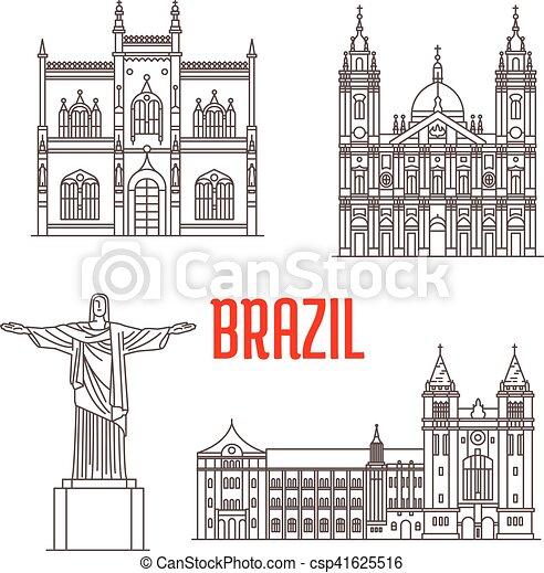 Architecture travel landmarks of Brazil - csp41625516