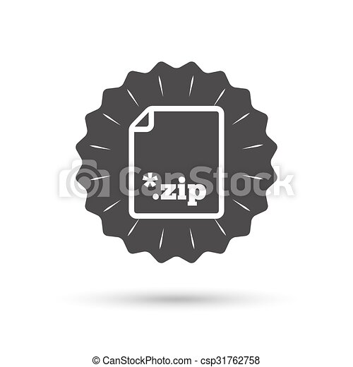 Archive file icon. Download ZIP button. - csp31762758