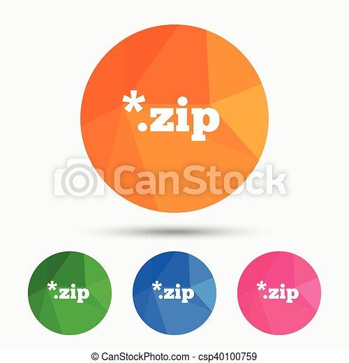 Archive file icon. Download ZIP button. - csp40100759