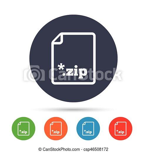 Archive file icon. Download ZIP button. - csp46508172
