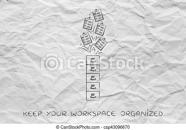 archive with to do lists going in or out, task management - csp43096670
