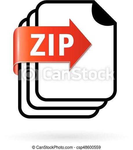 Archive zip file icon - csp48600559