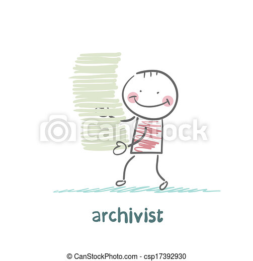 archivist is a stack of files - csp17392930
