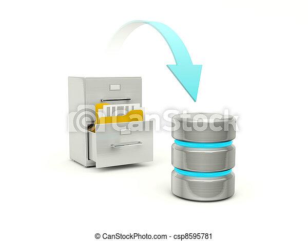 archivos, base, datos, archivo, copiado - csp8595781
