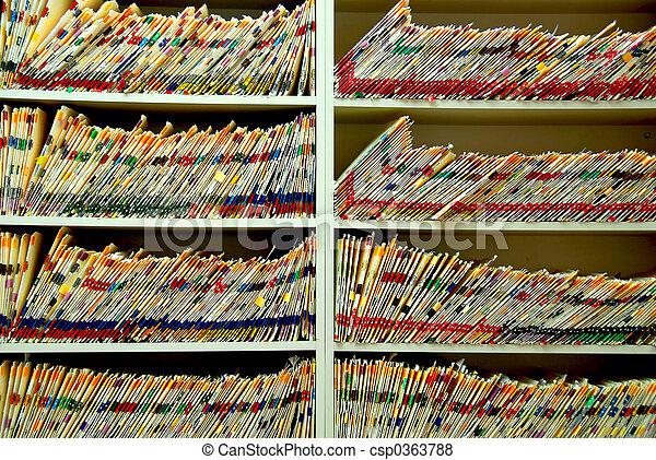 archivos, médico - csp0363788