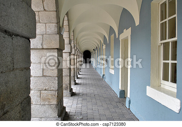 archway in collins barracks - csp7123380