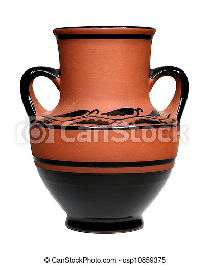 Viejo jarrón de arcilla - csp10859375