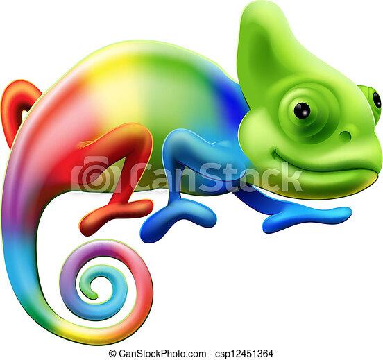 arco íris, camaleão - csp12451364