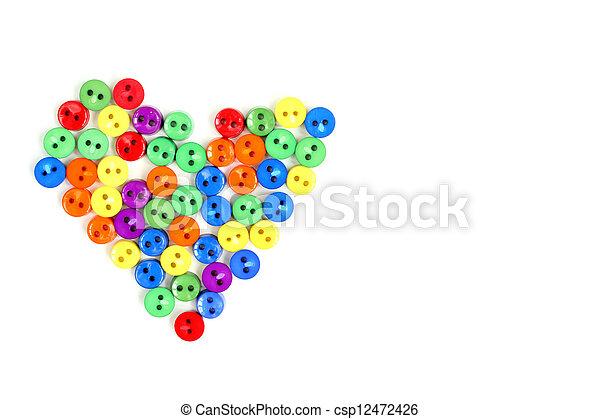 arco íris, coração - csp12472426