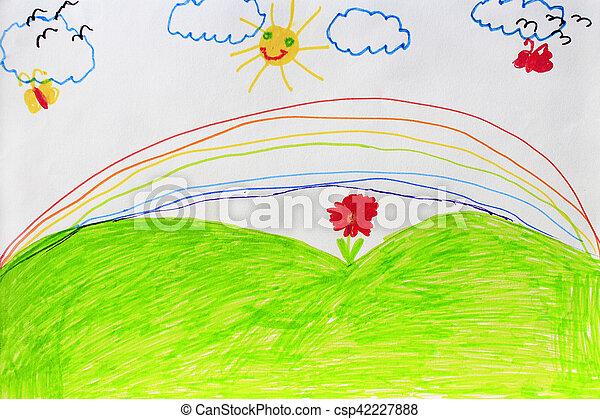 Arco Iris Infantil Flores Desenho Arco Iris Infantil Flores