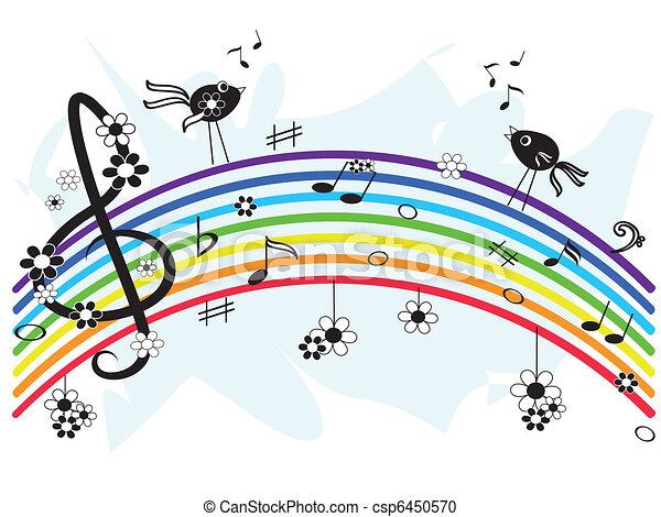 arco íris, música - csp6450570