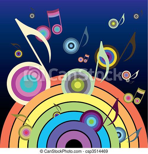 arco íris, música - csp3514469