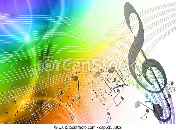 arco íris, música - csp6358362