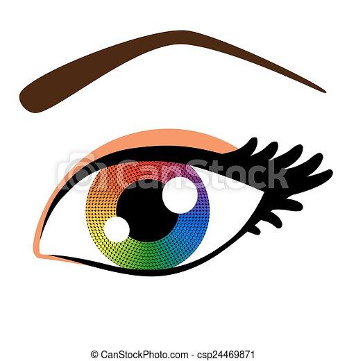 arco íris, olho - csp24469871