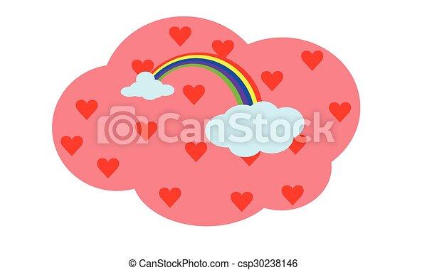 Arcoíris con amor - csp30238146
