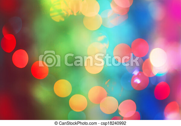 Rainbow Bokeh. - csp18240992
