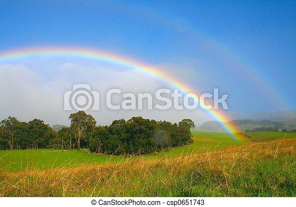 Un arco iris brillante - csp0651743