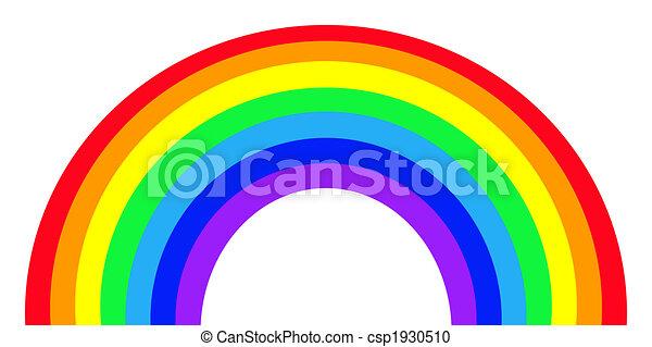 Un arco iris colorido - csp1930510