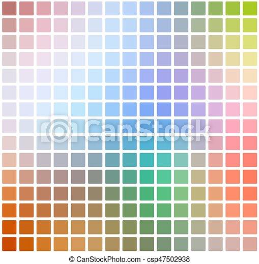 Los colores del arco iris rodearon el fondo mosaico sobre la plaza blanca - csp47502938