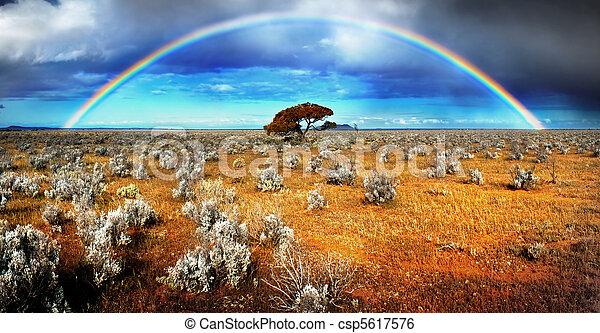 El desierto del arco iris - csp5617576