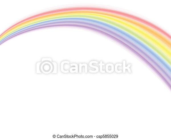 Vector, arco iris sobre blanco - csp5855029
