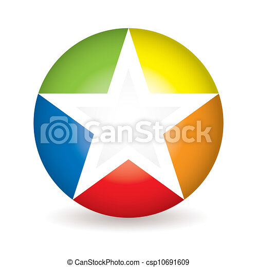 Un icono estrella arco iris - csp10691609