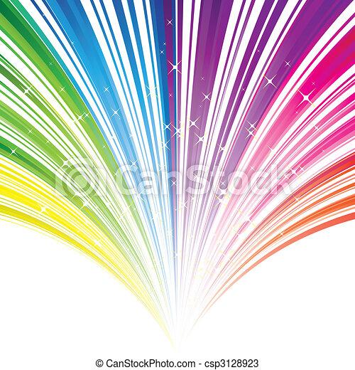 Abstrae el color del arco iris de fondo con estrellas - csp3128923