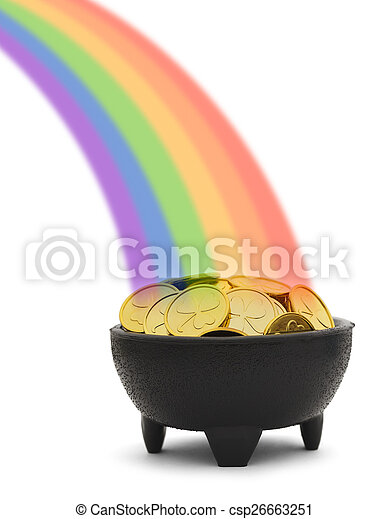 Un arco iris de oro - csp26663251