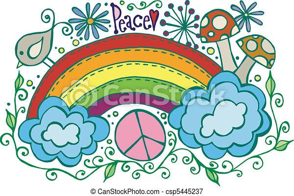 Paz arco iris - csp5445237
