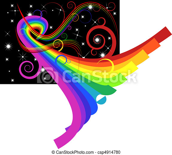 Abstrae las curvas del arco iris - csp4914780