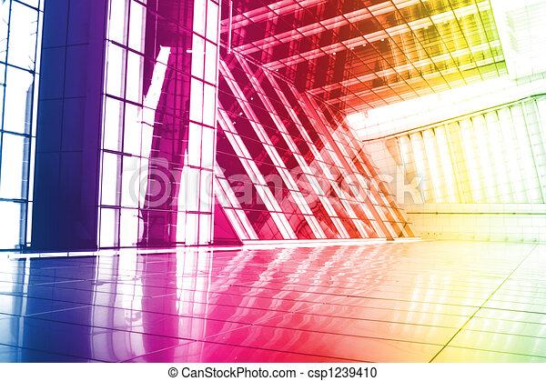 Arcoiris moderno y creativo fondo abstracto de papel pintado - csp1239410