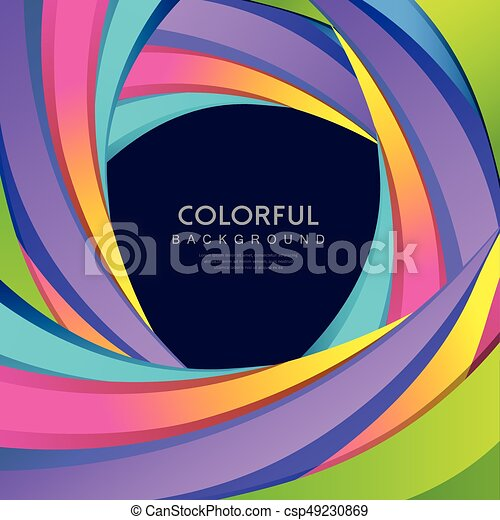 Curva abstracta vector colorida arco iris - csp49230869